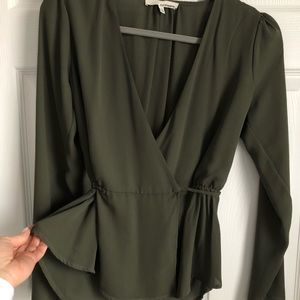 ✨Olive Green Blouse Size S